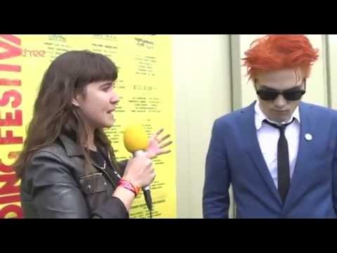 Gerard Way chats to Jen Long at Reading 2014