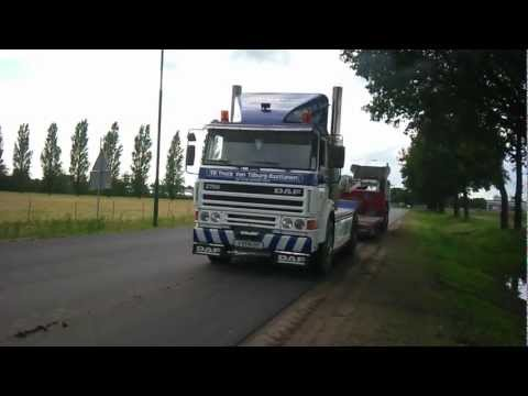 Truck pulling low idle sound low rpm stationair DAF 2700