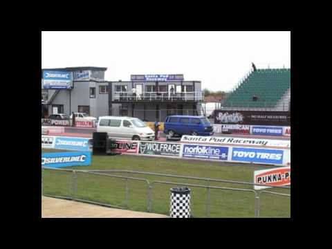VW T25 1.9tdi vs Toyota Granvia 3.0tdi at SantaPod