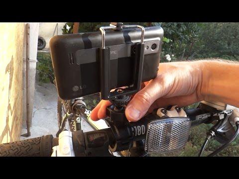 Как сделать подставку для телефона на велосипед