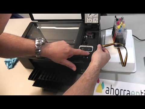 Cómo instalar un CISS - Sistema de alimentación continua para la impresora Epson Sx130