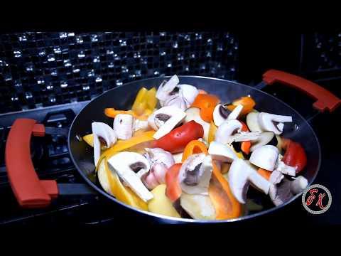 Говядина с овощами, в казане.