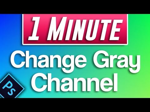 How to Change Gray Channel to Color RGB in Photoshop (convert black and white image to color)