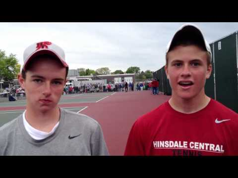 Hinsdale Central's Eddie Grabill and Harold Martin