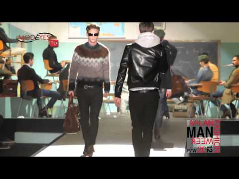 DSQUARED MAN FW 2013 BACKSTAGE,INTERVIEW AND RUNWAY (HD)