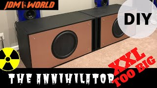 "Monster DIY Subwoofer! 18"" Parts Express Ultimax UM18-22 Full Marty Ported Box by GSG Audio Build"