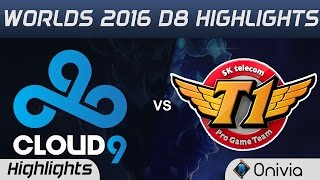 C9 vs SKT Highlights Worlds 2016 D8 Cloud9 vs SK Telecom T1