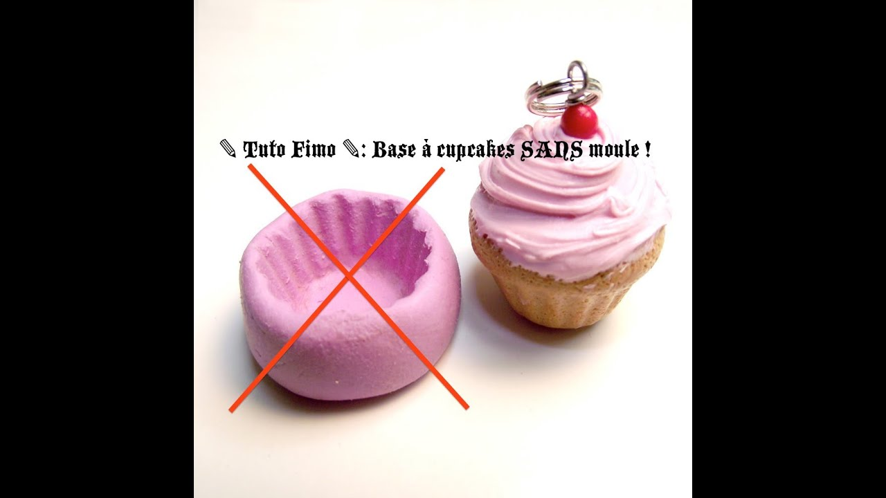 tuto fimo base cupcakes sans moule youtube. Black Bedroom Furniture Sets. Home Design Ideas