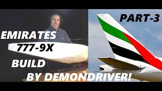 Emirates 777-9X RC Airplane Airliner Build Part-3