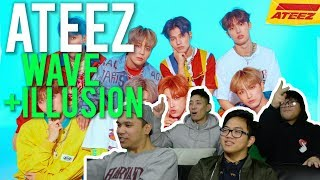 "ATEEZ - ""WAVE"" and ""ILLUSION"" (MV Reaction)"