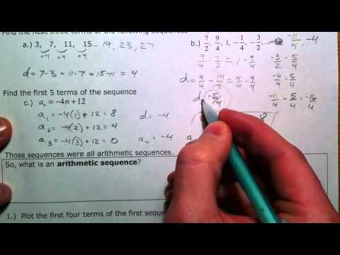 Arithmetic Sequences and Series (1 of 3)