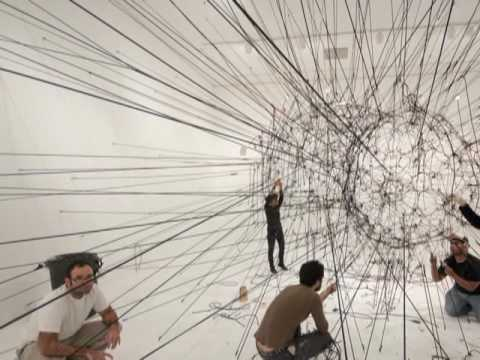 Miami Art Museum Installation of Large-Scale Work by Tomás Saraceno