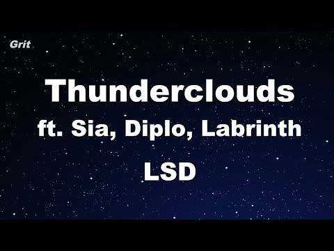 Download Lagu  Thunderclouds ft. Sia, Diplo, Labrinth - LSD Karaoke 【No Guide Melody】 Instrumental Mp3 Free