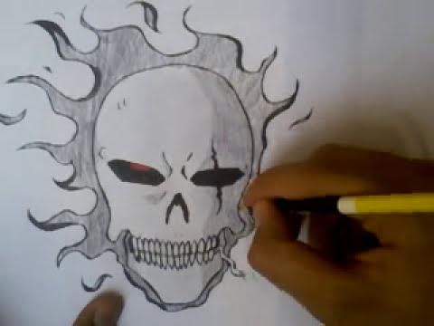 Como desenhar uma caveira