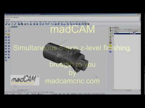 madCAM Simultaneous 5-axis Z-level finishing.mp4