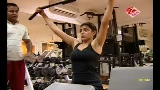 Kajal Boob Show In Gym