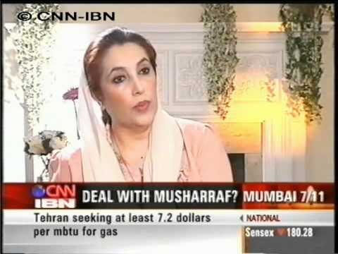 CNN IBN Benazir Bhutto Part 1 16 7 2006