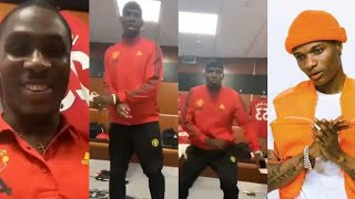 Wizkid Runs Mad As Pogba & Ighalo Dance & Praised His Song Better than Burna Boy & Davido