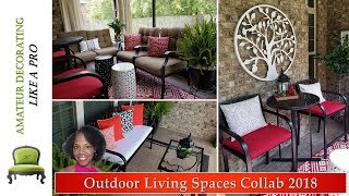 NEW!  Outdoor Living Spaces Collab 2018 featuring updates and up-cycles!