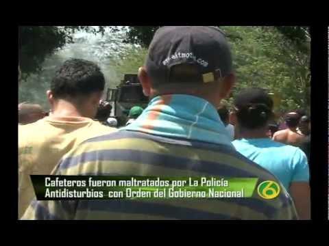 NOTA MALTRATO. PARO CAFETERO EN COLOMBIA 2013.