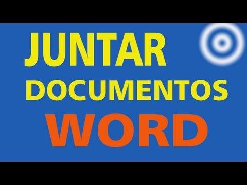 Como juntar documentos Word em um só ?