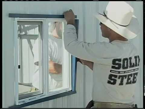 Metal Building Installation Step 20 Doors Amp Windows Youtube