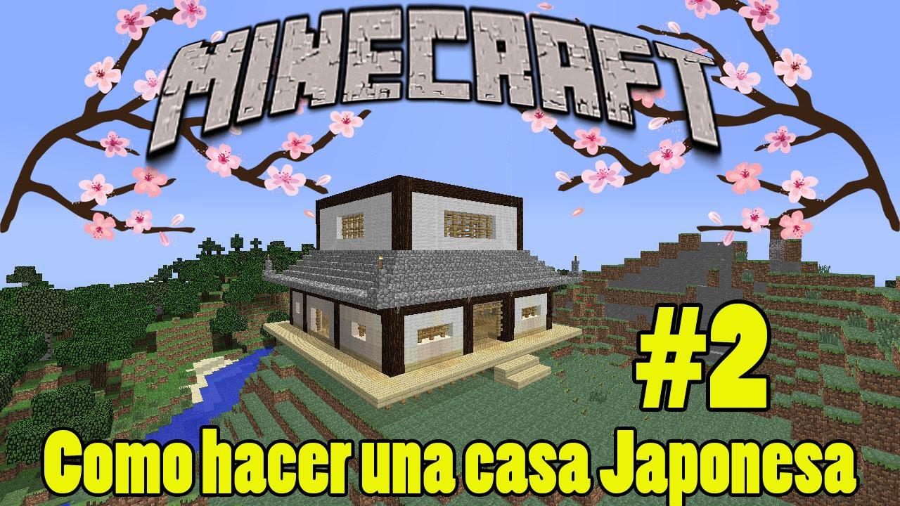 Como hacer una casa japonesa en minecraft 2 youtube for Como hacer una casa clasica de ladrillo en minecraft