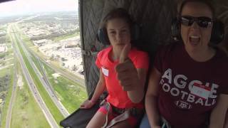 Riding in a Huey over College Station