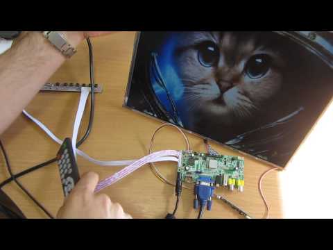 Как из матрицы ноутбука сделать телевизор