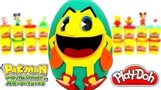 Huevo Sorpresa Gigante de Pac Man y Las Aventuras Fantasmales de Plastilina Play Doh