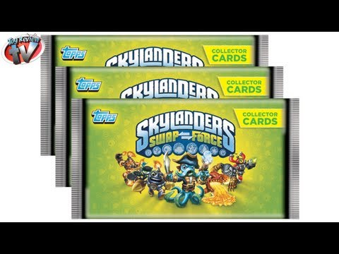 Skylanders Swap Force Trading Cards Pack Opening & Review. Topps