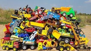 Learn Car Names With Car Toys | School Bus Three Wheel Motor Animal Car Carrier  Toys For Kids