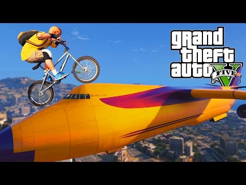 AWESOME GTA 5 BMX STUNTS! (GTA V Stunts Compilation)