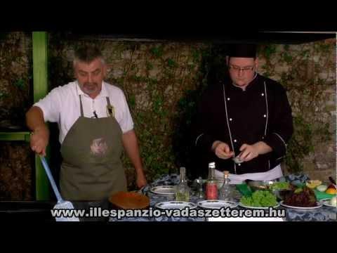 Szilvásváradi pisztráng roston sütve, kerti saláta ágyon