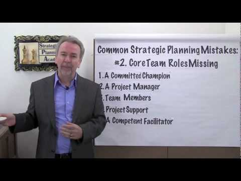 Strategic Planning Mistakes: #2 - Core Team Roles Missing - Project Management Video