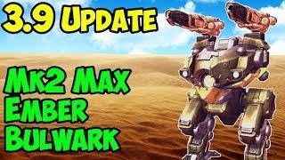 War Robots New Mk2 Maxed Out Bulwark Ember Gameplay - Best Setup - WR