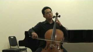 Bach Cello Suite No 1 v Menuet --  蔡寧