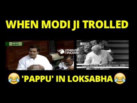 Epic - Narendra Modi Trolls Rahul Gandhi in Loksabha