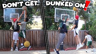 Who Can Get Dunked On The LEAST Basketball Challenge!