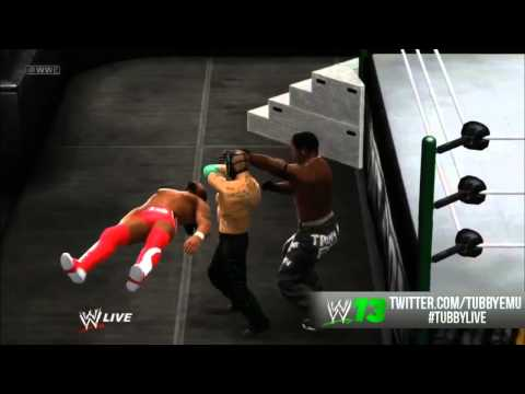 WWE 13 - GLITCH!  R.I.P Kofi Kingston/R-Truth!!! (TABLE GLITCH)