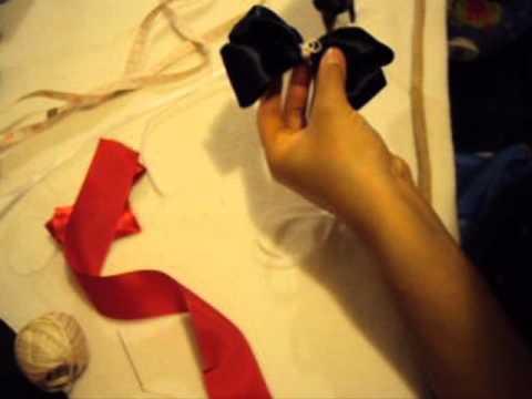 Artes y Manualidades:Como hacer Moños de liston para niñas (bebes) Paso a Paso