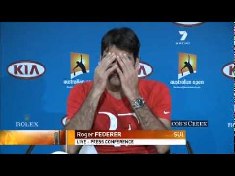Australia Open 2011 SEMIFINALS - Roger Federer Interview after losing to Novak Djokovic