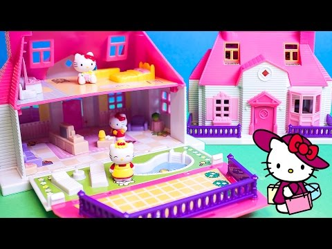 Hello Kitty Mini Doll House Carry Along Play Set Casa de Muñecas Transportable ハローキティ