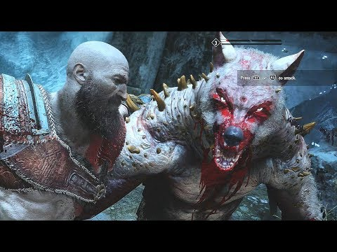God of War 4 2018 StoneBeard King Boss Fight  No Damage Walkthrough Part 37 PS4 PRO thumbnail