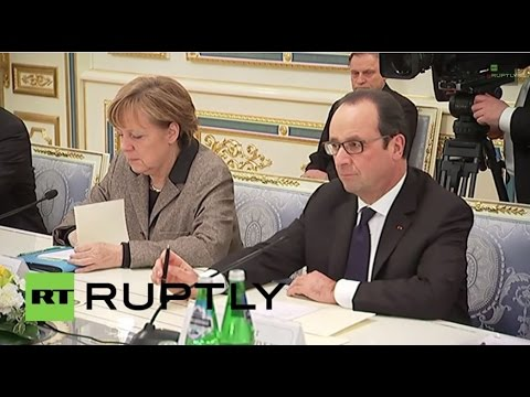 LIVE: Merkel and Hollande arriving to Moscow for talks with Putin