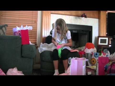 Reagan opening birthday presents 7th 11-12