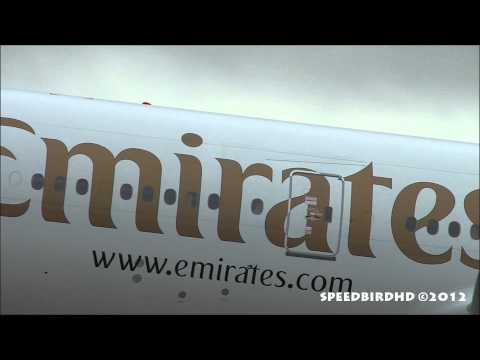 Emirates Boeing 777-21H(LR) CLOSE UP Takeoff From Los Angeles