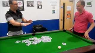 Pool Table Card Trick - With Former World Snooker Champion Graeme Dott