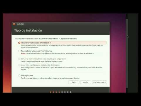 Windows 7 y Ubuntu 13 10   Dual Boot