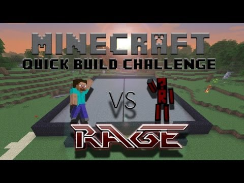 Minecraft Quick Build Challenge - Water Slide! (1v1 on Voice)